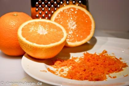 Abgeriebene Orangenschale