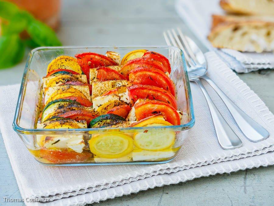 Auflauf Tomaten Zucchini Feta