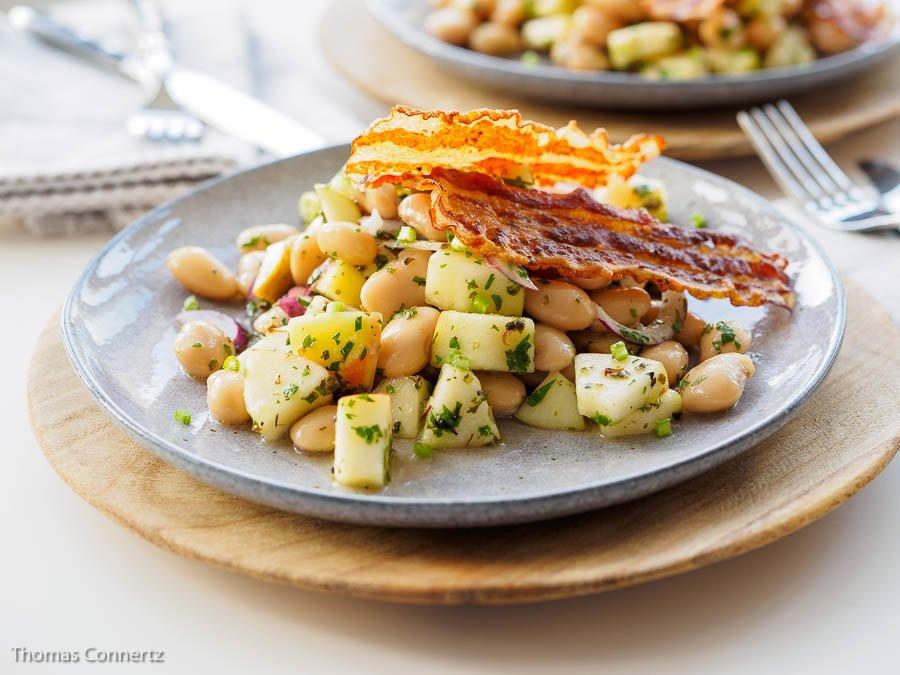 Bohnen Apfel Pancetta Salat