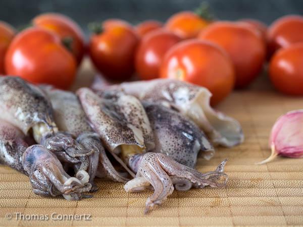 Calamaretti Tomaten Knoblauch