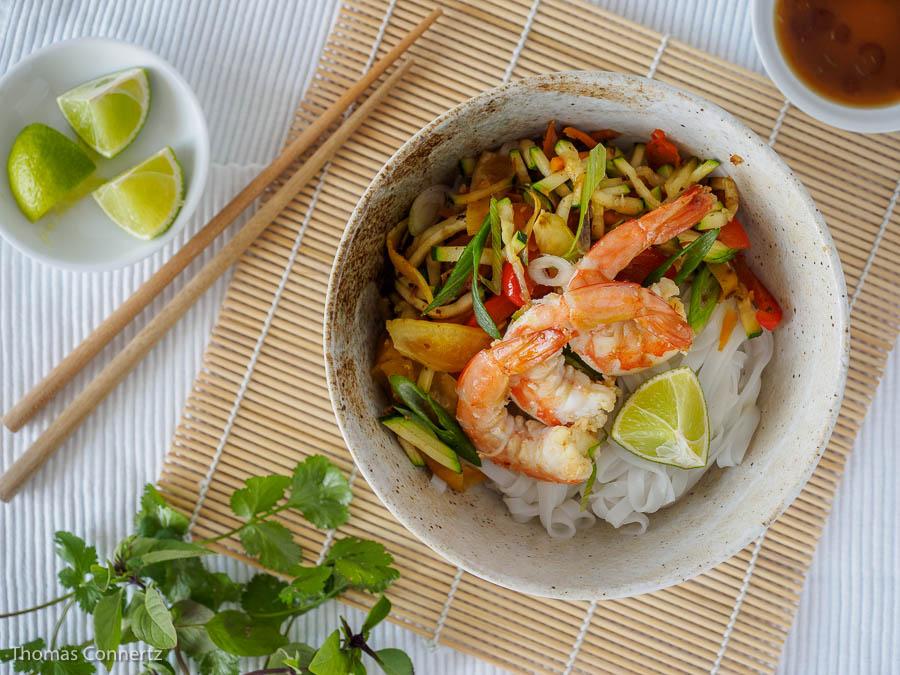 Cedro Garnelen Gemüse asiatisch