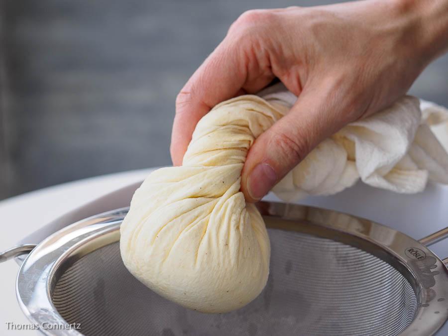 Frischkaese Tuch