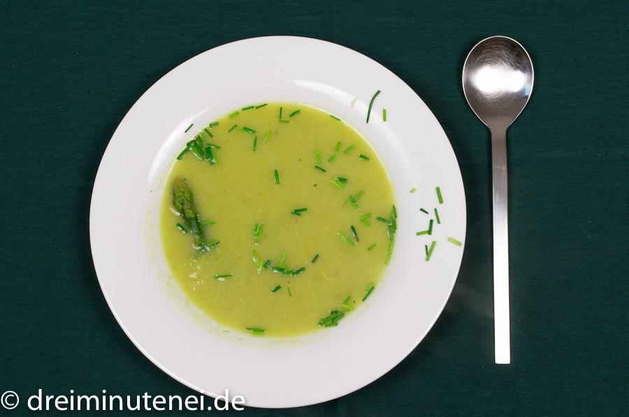 Grüne Spargelsuppe