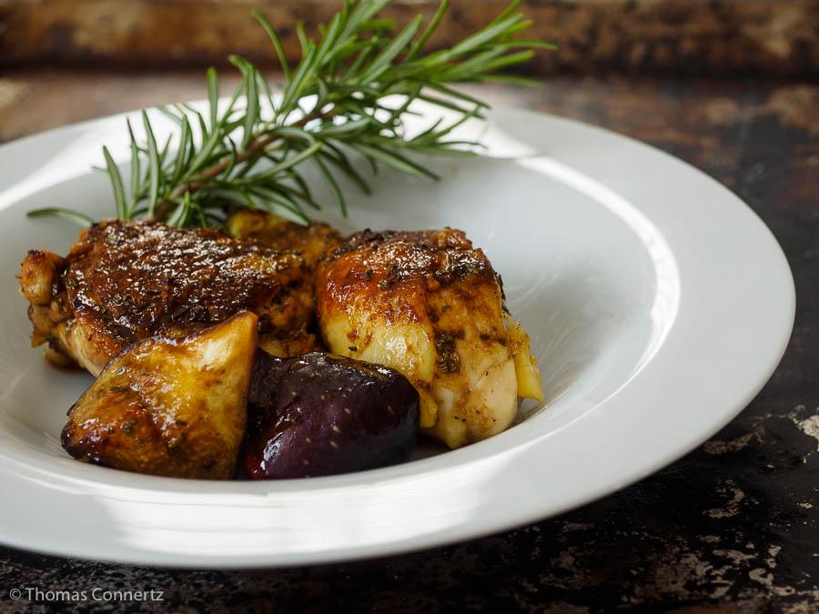 Hähnchen mit Feigen und Balsamico-Glasur