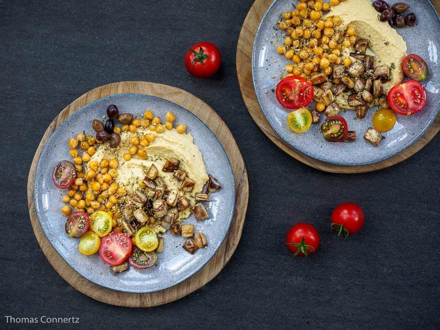Hummus Kichererbsen Aubergine