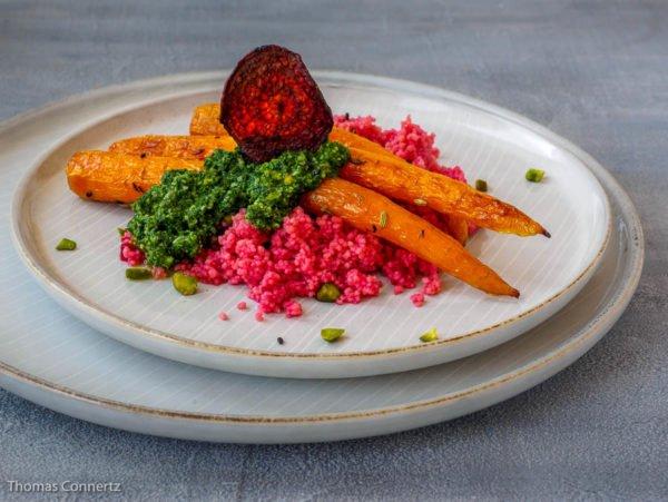 Karotten Moehren Pesto Couscous Chip