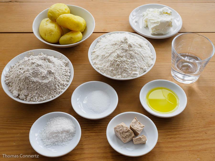 Kartoffel-Quark–Broetchen Zutaten