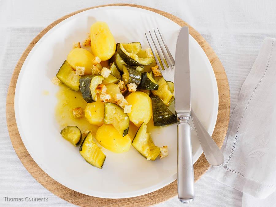 Kartoffeln Zucchini Zitrone