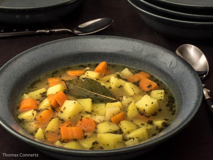 rezept backofen kartoffelsuppe vegetarisch. Black Bedroom Furniture Sets. Home Design Ideas