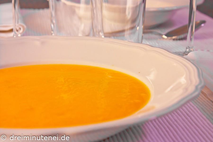 Kürbissuppe mit Quitten