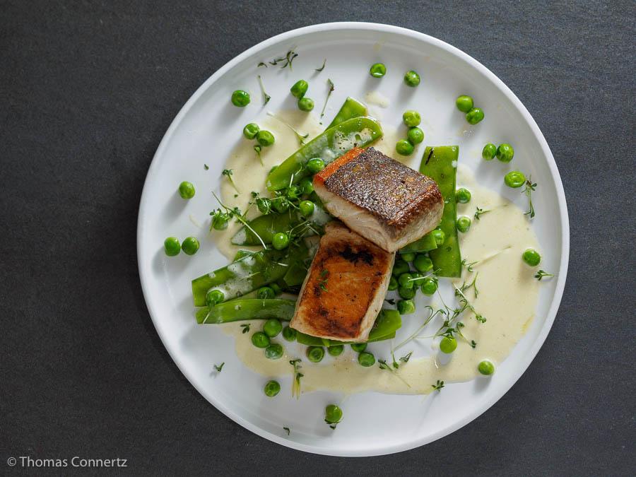 Makrele Erbsengemüse