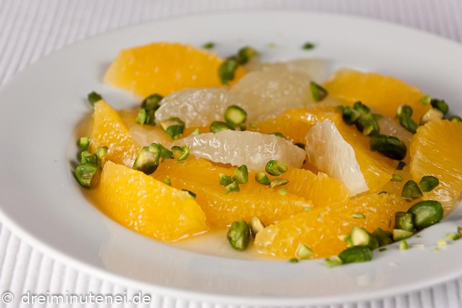 Orangen-Grapefruit-Salat mit Pistazien