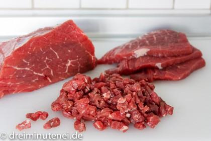 Rindfleisch Scheiben Würfel