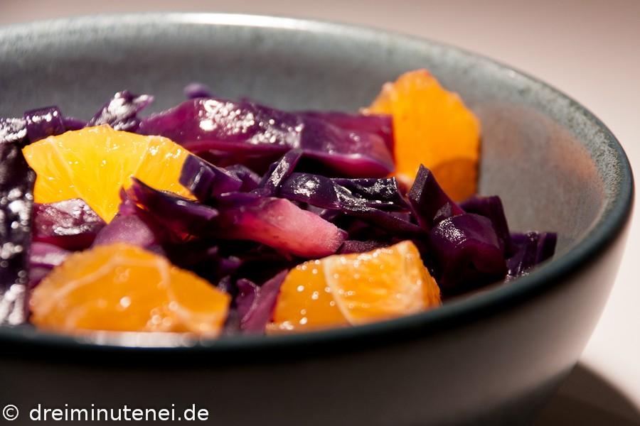 Rotkohl mit Orangen und Zimt