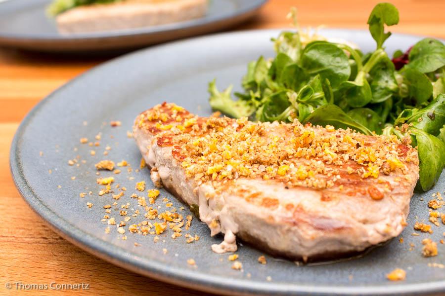 Thunfischsteak mit Sesam-Orangenwürze