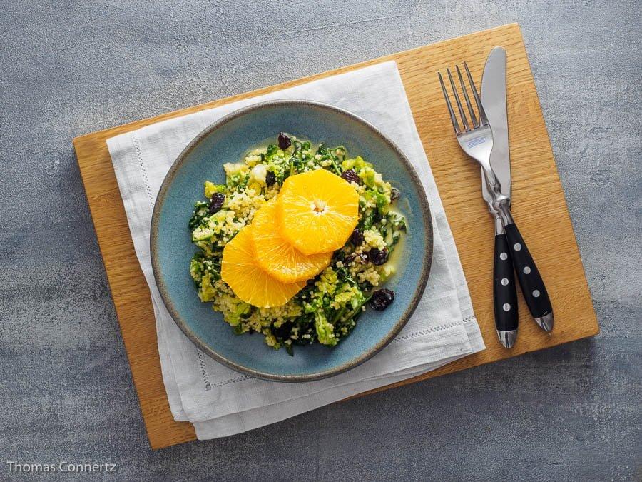 Wirsing Hirse Orangen Salat