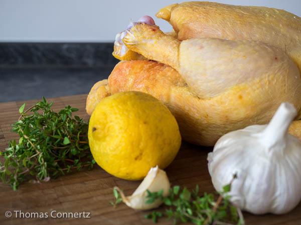 Zitrone Thymian Knoblauch Hähnchen