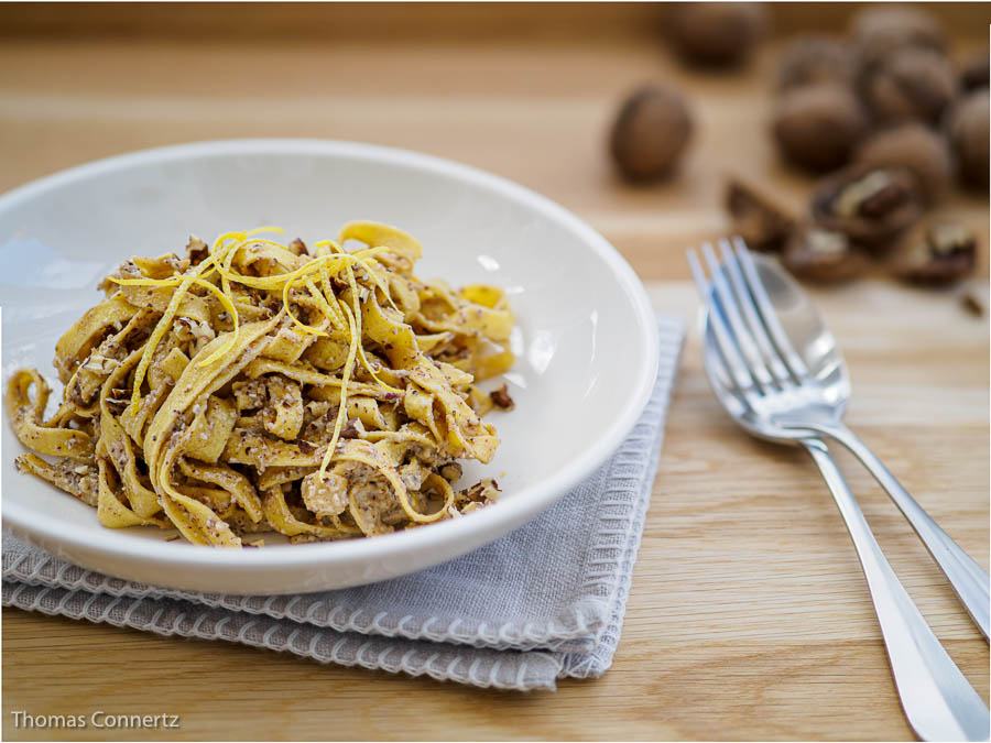 Zitronen Walnuss Pesto Pasta