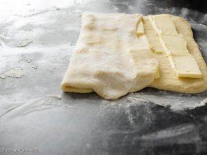 Franzbrötchen Butter Teig