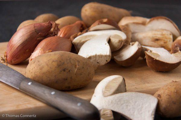 Kartoffeln Steinpilze